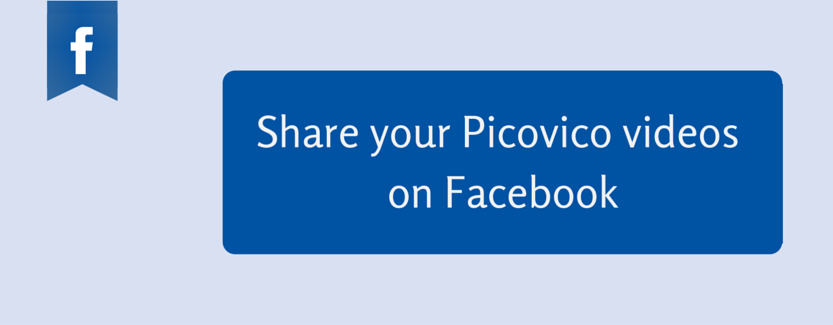 share picovico video on fb