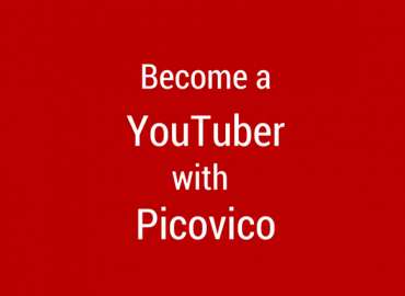how to become a youtuber with Picovico